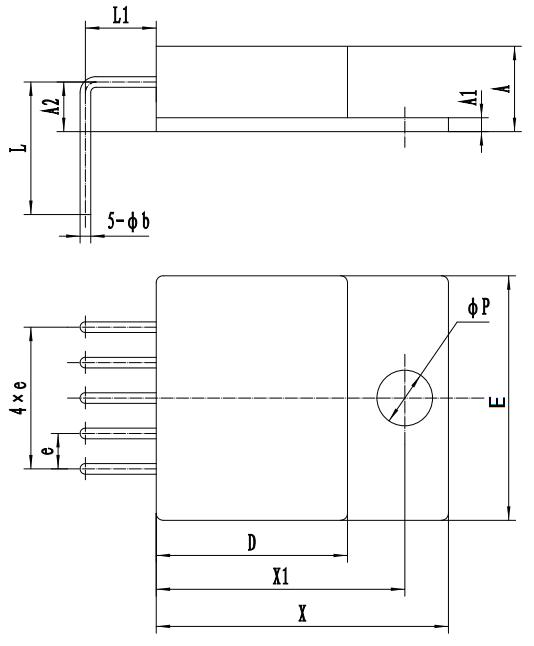 HSK5176-1.5HTD Package outline drawing